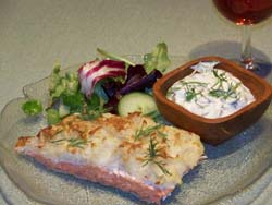 Potato-Crusted Salmon with Dill